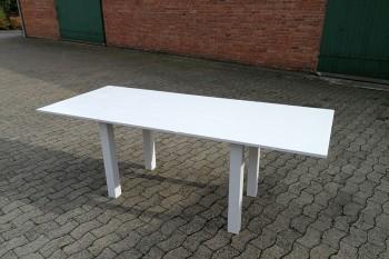 Holztisch weiß 220x90cm