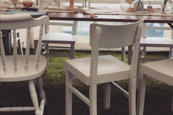 Vintage-Shabby-Stühle weiß mieten